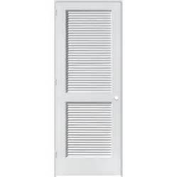 Prehung Louvered Interior Doors Shop Reliabilt Louvered Solid Pine Right Interior Single Prehung Door Common 26 In X 80