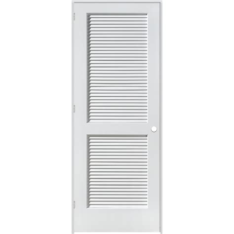 Interior Louvered Doors Lowes Shop Reliabilt Louvered Solid Pine Right Interior Single Prehung Door Common 26 In X 80