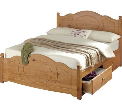 pine bed headboards buy collection sherington 4 drawer bed frame pine at argos co uk your shop for