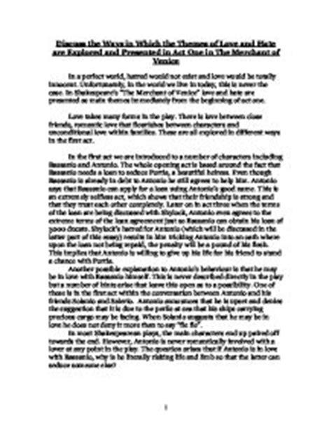 Merchant Of Venice Essay by The Merchant Of Venice Essay Essays On Shakespeare S The Merchant Of Venice
