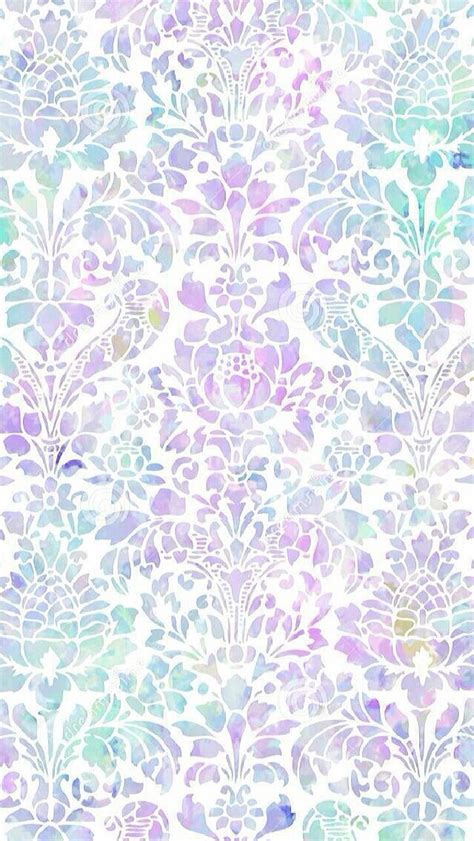 pattern lock background lavender lilac mint watercolour damask iphone wallpaper