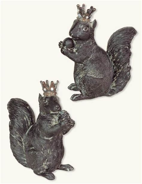 squirrel rubber st regal squirrels pair resin squirrels