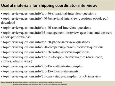 Shipping Coordinator by Top 10 Shipping Coordinator Questions And Answers