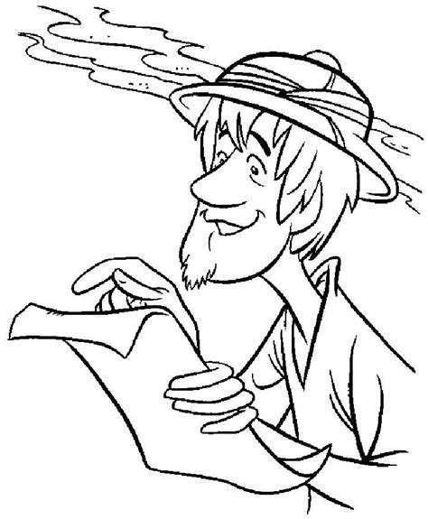 Scared Scooby Doo And Shaggy Coloring Pages Coloring Pages Shaggy Coloring Page