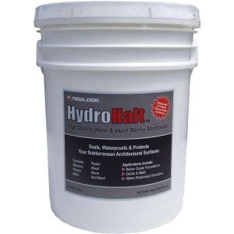 hydrohalt 5 gal water and vapor barrier membrane hydhlt5g