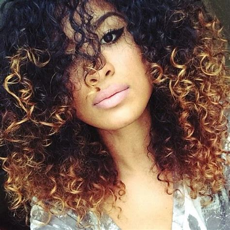 hairstyles colors curly hair amazing ombre highlights for natural curly hair