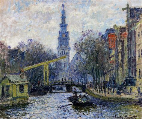French Country Art Prints - canal in amsterdam monet claude wikiart org