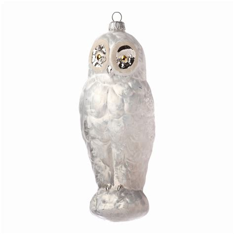 ice white owl christmas ornament gump s
