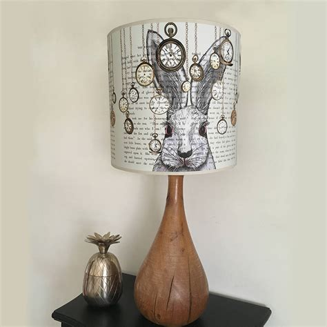 alice in wonderland home decor alice in wonderland white rabbit lshade by fabfunky