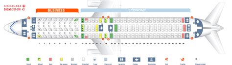 Seat Map Boeing Air Canada seat map boeing 767 300 air canada best seats in plane