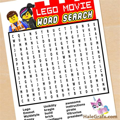 printable lego activity sheets free printable lego movie word search