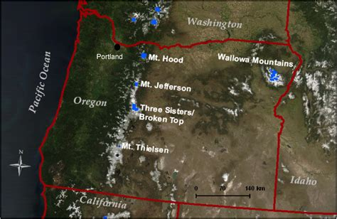 map of oregon volcanoes justin ohlschlager