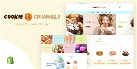 shopify themes bakery cookie crumble bakery confectionery shopify theme