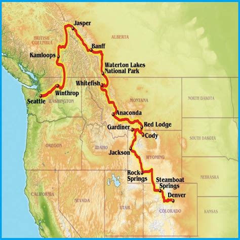 map seattle to yellowstone canadian rockies and yellowstone park guided motorcycle