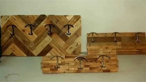 make all from wood how to make coat racks with pallet wood youtube