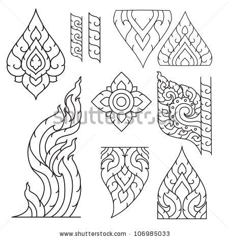 easy tattoo thai buddhist symbols stock photos images pictures