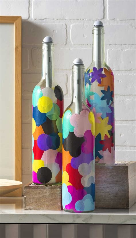 craft lights for wine bottles wine bottle crafts light my bottles mod podge rocks