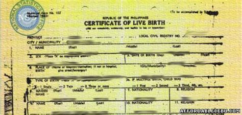 Record Of Live Birth How To Apply For Late Registration Of Birth In Cebu Civil Documents 395