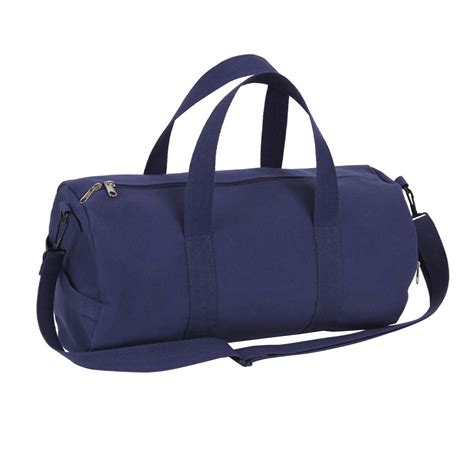 19 inch navy canvas duffle bag