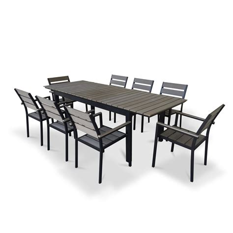 extendable dining sets urban furnishings 9 piece extendable outdoor dining set