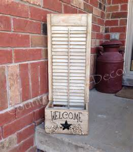 repurposed shutter country craft pinterest
