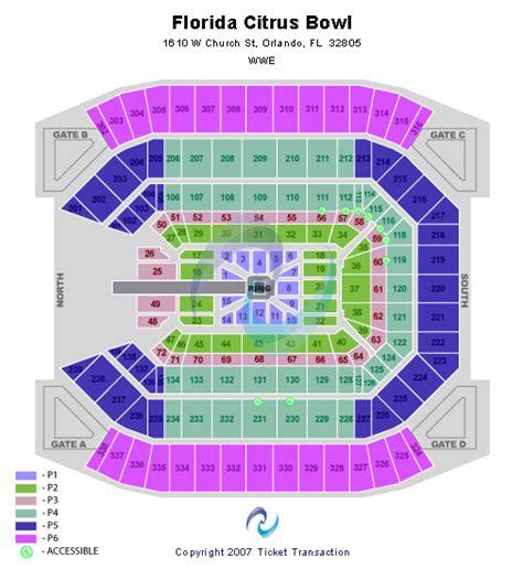 citrus bowl stadium seating map florida citrus bowl seating chart
