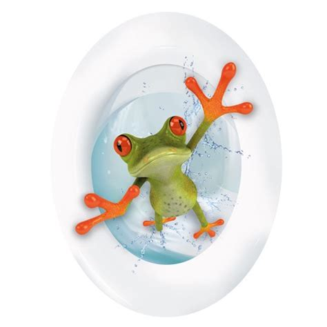 fliesenaufkleber toilette wc aufkleber frosch