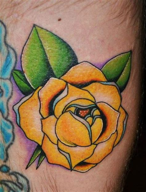 yellow rose tattoo images yellow tattoos