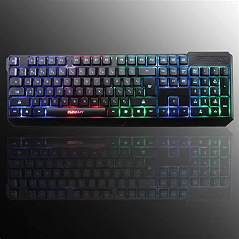 Keyboard Komputer Dell usb keyboard elegiant k70 colorful led illuminated backlit usb wired gaming keyboard for pc