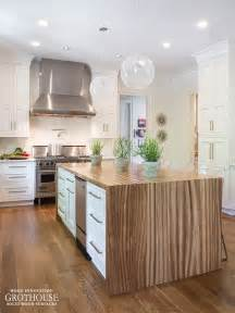 Kitchen Island Countertop Zebrawood Waterfall Table For A Kitchen In Memphis Https