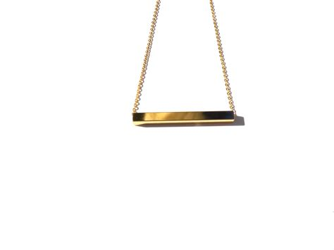 square bar necklace haarstick jewelry
