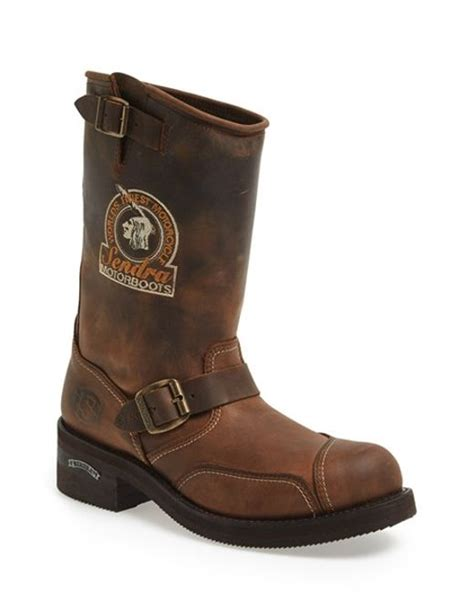 motorbike boots for riders sendra rider motorcycle boot in brown for lyst