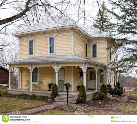 Clapboard House by Clapboard House With A Porch Stock Photo Image 40312035