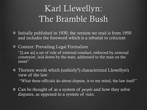 Karl Llewellyn Bramble Bush Pdf