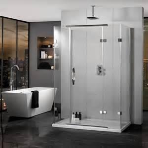 Three Shower Enclosure Aquadart Inline Hinged 3 Sided Shower Enclosure