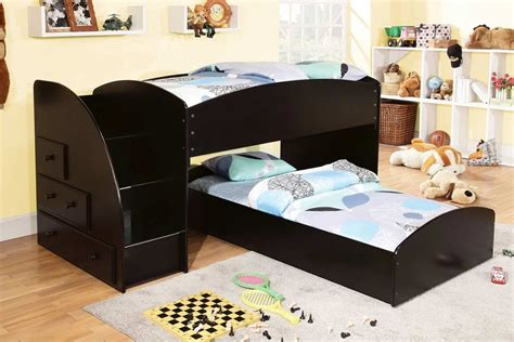 l shaped bunk beds for kids low l shaped bunk bed with steps for kids decofurnish