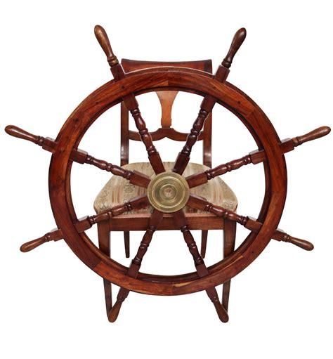 volante della nave volante della nave legno ottone ruota barca 106 centimetri