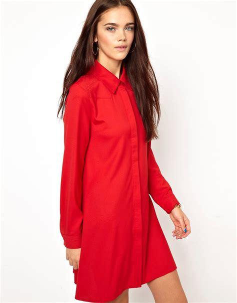 Glamorous Shirt Dress glamorous glamorous swing shirt dress at asos