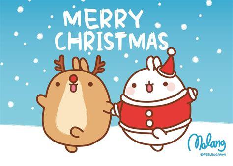 Christmas Wallpaper Kawaii | merry molang christmas super cute kawaii
