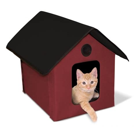 outdoor heated cat house k h outdoor kitty house