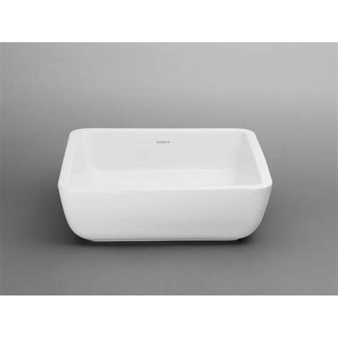 ronbow square vessel sink ronbow square ceramic vessel bathroom sink in white