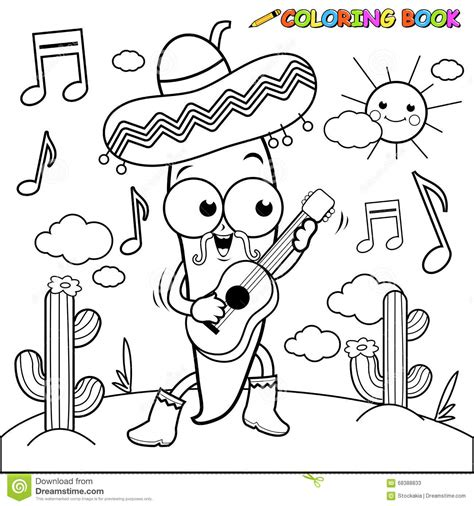 mariachi guitar coloring page mariachi coloring pages coloring pages