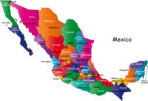 Map Of States Of Mexico by Gallery For Gt Mexico Map States
