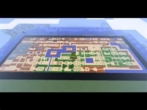 Minecraft Legend Of Zelda Map Youtube | legend of zelda overworld nes map built in minecraft youtube