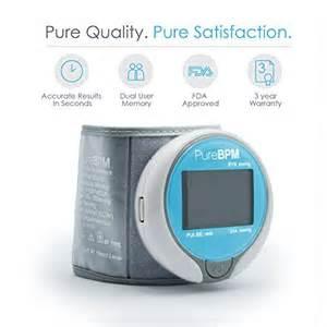 most accurate home pressure monitor purebpm wrist pressure monitor fast accurate