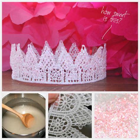 Paper Tiara Craft - pink glitter tiara