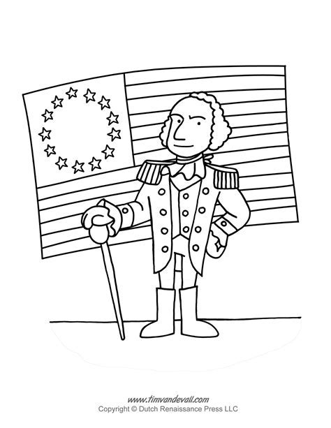 coloring activity for grade 3 - George Washington Coloring Page ...