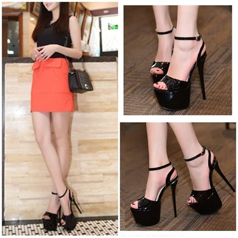 High Heels Import Gea51177pi jual shh80381 black high heels import 20cm grosirimpor