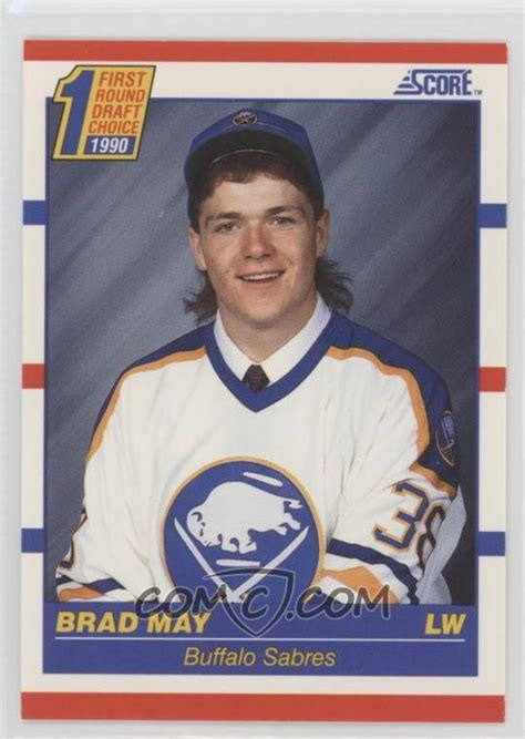 Brad May Move To Washington Dc 1990 91 score base 427 brad may comc card marketplace
