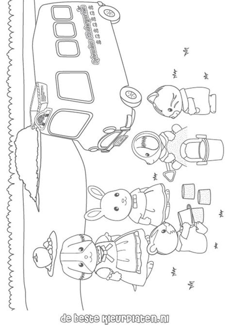 sylvanian family coloring page calico critters coloring page sylvanian families006